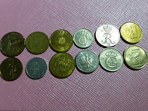 LOT OF 12 MIXED EUROPEAN COINS   COLLECTION FROM EUROPE   BARGAIN