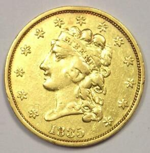1835 CLASSIC GOLD QUARTER EAGLE $2.50 COIN   XF DETAILS    COIN