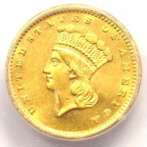 1885 INDIAN GOLD DOLLAR COIN G$1   CERTIFIED ICG MS64  BU    $1 200 VALUE