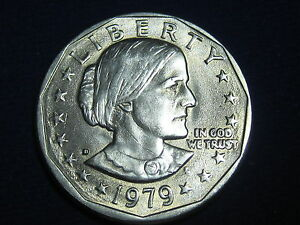 US 1979 D  SUSAN B. ANTHONY DOLLAR COIN   CIRCULATED