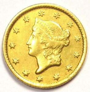 1852 C LIBERTY GOLD DOLLAR CHARLOTTE COIN  G$1    AU DETAILS  CLEANED
