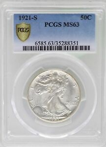 Click now to see the BUY IT NOW Price! 1921 S WALKING LIBERTY HALF DOLLAR 50C PCGS MS63 CERTIFIED COIN   JB231
