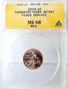 Click now to see the BUY IT NOW Price! 2009 LINCOLN FORMATIVE YEARS   DDR 001 FS 802   ANACS CERTIFIED MS68RD  TOP POP