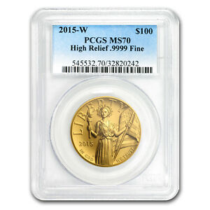Click now to see the BUY IT NOW Price! 2015 HIGH RELIEF AMERICAN LIBERTY GOLD MS 70 PCGS