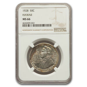 Click now to see the BUY IT NOW Price! 1928 HAWAII SESQUICENTENNIAL HALF DOLLAR MS 66 NGC   SKU169330