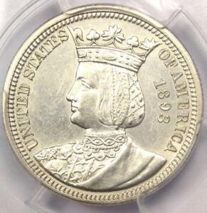 1893 ISABELLA COMMEMORATIVE QUARTER 25C   PCGS UNCIRCULATED DETAILS  MS UNC