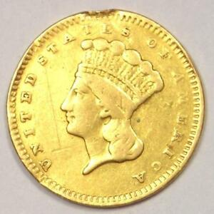 1859 S INDIAN DOLLAR GOLD COIN  G$1    VF DETAILS    DATE COIN