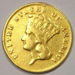 1874 INDIAN THREE DOLLAR GOLD COIN  $3    XF DETAILS  EF     COIN