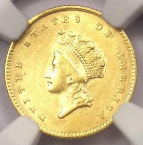 1854 TYPE 2 INDIAN GOLD DOLLAR  G$1 COIN    CERTIFIED NGC AU DETAILS    DATE
