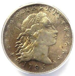 1795 FLOWING HAIR HALF DIME H10C LM 10   ANACS F12 DETAIL    CERTIFIED COIN