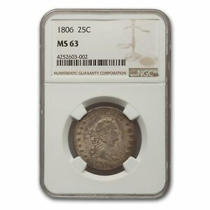 1806 DRAPED BUST QUARTER MS 63 NGC   SKU154425