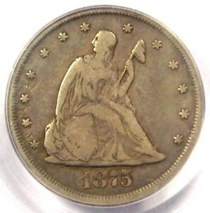1875 CC TWENTY CENT COIN 20C  CARSON CITY    CERTIFIED PCGS F12   $475 VALUE