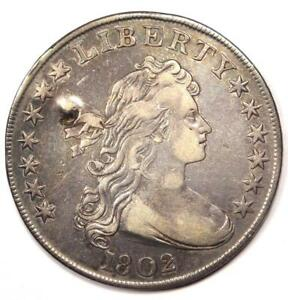 1802 DRAPED BUST SILVER DOLLAR $1   XF DETAILS  EF     TYPE COIN