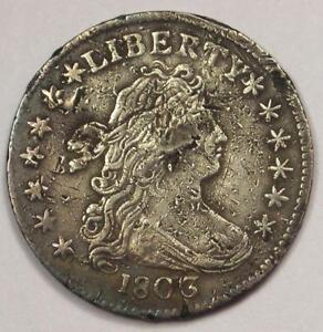 1803 DRAPED BUST DIME 10C COIN   XF DETAILS  CORROSION     CLASSIC COIN