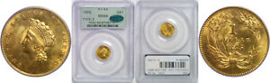 Click now to see the BUY IT NOW Price! 1855 $1 GOLD COIN PCGS MS 64 CAC TYPE 2