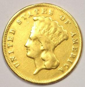 1874 INDIAN THREE DOLLAR GOLD COIN  $3    VF DETAILS    COIN