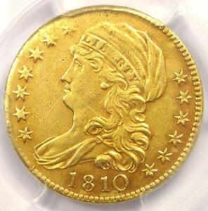 1810 CAPPED BUST GOLD HALF EAGLE $5   PCGS XF DETAILS    GOLD COIN