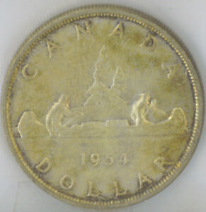 Click now to see the BUY IT NOW Price! CANADA 1954 $1 ONE SILVER DOLLAR ICCS CERTIFIED MS 64 QUEEN ELIZABETH II