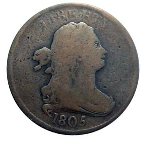HALF CENT/PENNY 1805 DRASTIC DOUBLE DIE ERROR   WOW