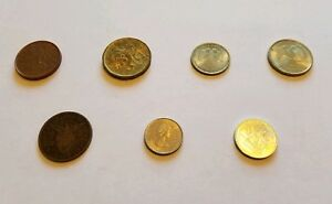 LOT OF 7 FOREIGN COINS   CZECH RUSSIAN PHILIPPINES JERSEY CHINA