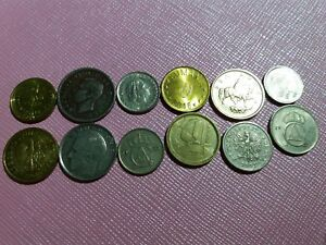 LOT2 OF 12 MIXED VINTAGE EUROPEAN COINS   DOZEN COLLECTION FROM EUROPE