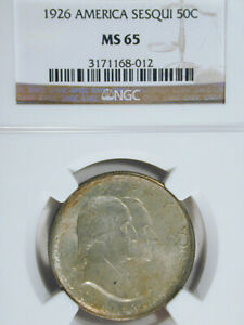 Click now to see the BUY IT NOW Price! 1926 AMERICA SESQUICENTENNIAL HALF DOLLAR MS 65 NGC   SKU181418