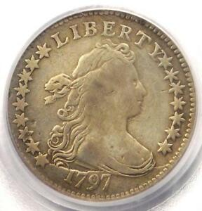 1797 DRAPED BUST DIME 16 STARS 10C COIN   PCGS GENUINE   VF DETAILS
