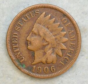 1906 INDIAN HEAD CENT PENNY NICE OLD COIN LIBERTY FAST S&H 571