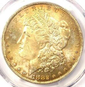 1882 O MORGAN SILVER DOLLAR $1   PCGS MS65  PQ    PLUS GRADE   $1 750 VALUE