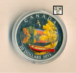 Click now to see the BUY IT NOW Price! 2013 'AUTUMN BLISS' COLORIZED PROOF $20 SILVER COIN 1OZ .9999FINE 13276  NT OOAK