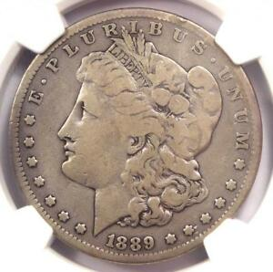 1889 CC MORGAN SILVER DOLLAR $1   NGC FINE DETAILS    CERTIFIED COIN