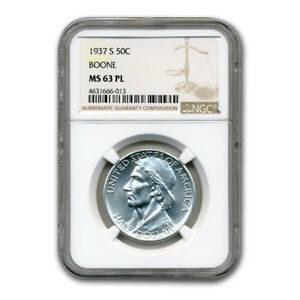 Click now to see the BUY IT NOW Price! 1937 S BOONE COMMEMORATIVE HALF DOLLAR MS 63 NGC  PL    SKU182035