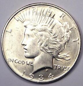 1934 D PEACE SILVER DOLLAR $1   EXCELLENT CONDITION   NICE LUSTER    DATE
