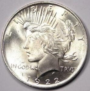 1922 PEACE SILVER DOLLAR $1   GEM UNCIRCULATED  BU MS    EXCELLENT LUSTER