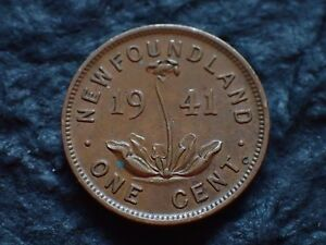 1941   ONE CENT  NEWFOUNDLAND    IN CANADA