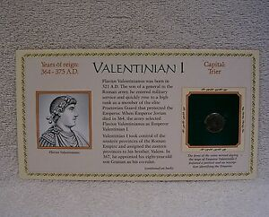 COINAGE OF ANCIENT ROMAN EMPEROR   VALENTINIAN I  364 A.D. GENUINE BRONZE COIN