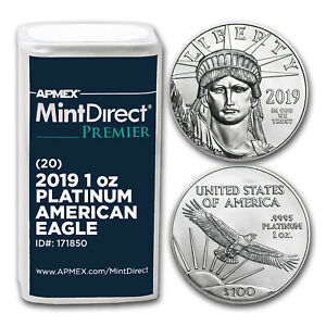 Click now to see the BUY IT NOW Price! 2019 1 OZ PLATINUM EAGLE  20 COIN MINTDIRECT PREMIER TUBE    SKU171850