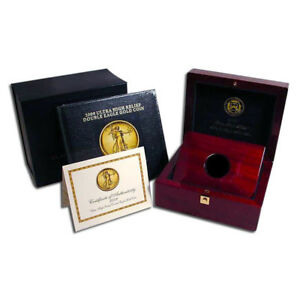2009 ULTRA HIGH RELIEF GOLD AMERICAN EAGLE BOX AND BOOK  NO COIN