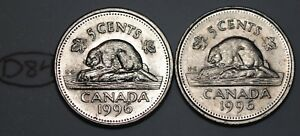 CANADA 1996 5 CENTS NEAR AND FAR 6 CANADIAN NICKELS FIVE CENTS LOT D84