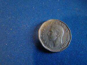 1947 CANADA 5 CENTS NO MAPLE LEAF VARIETY FINE  EXTRA FINE PLEASE SEE PICS