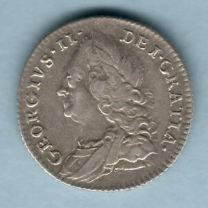 GREAT BRITAIN. 1757 GEORGE 11   SIXPENCE.. VF   PART LUSTRE