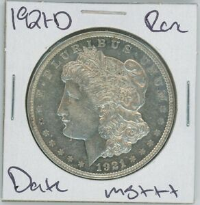 1921 D MORGAN DOLLAR  DATE UNCIRCULATED US MINT SILVER COIN UNC MS