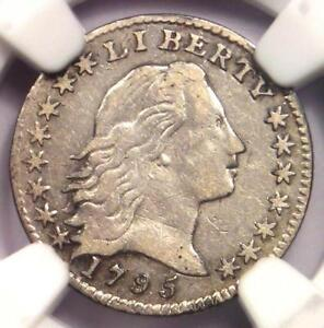 1795 FLOWING HAIR HALF DIME H10C   NGC VF DETAIL    CERTIFIED COIN