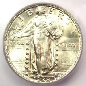1928 STANDING LIBERTY QUARTER 25C COIN   CERTIFIED ICG MS66   $790 VALUE