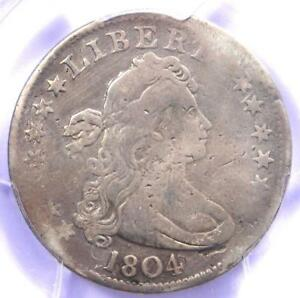 1804 DRAPED BUST QUARTER 25C   PCGS FINE DETAILS    KEY DATE CERTIFIED COIN