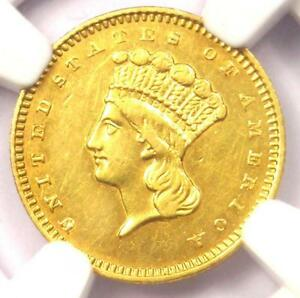 1859 S INDIAN GOLD DOLLAR COIN G$1   CERTIFIED NGC AU DETAILS
