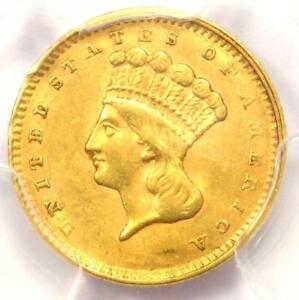1857 INDIAN GOLD DOLLAR COIN G$1   CERTIFIED PCGS AU DETAILS    COIN