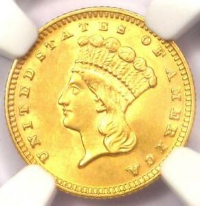 1889 INDIAN GOLD DOLLAR  G$1 COIN    NGC UNCIRCULATED DETAILS  UNC MS