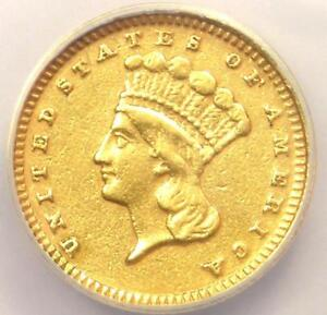 1869 INDIAN GOLD DOLLAR COIN G$1   CERTIFIED ANACS XF45 DETAILS    DATE