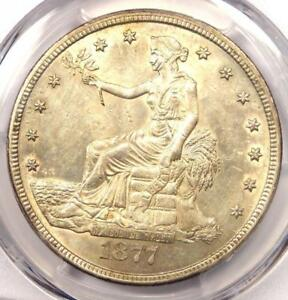 1877 CC TRADE SILVER DOLLAR T$1   CERTIFIED PCGS UNCIRCULATED DETAILS  MS UNC